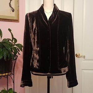Elie Tahari velvet Jacket Blazer 12 NWOT